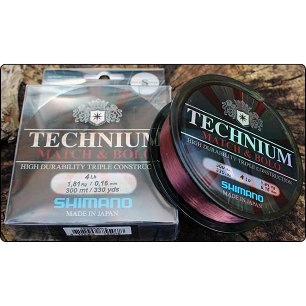 Монофилно влакно Shimano Technium Match & Bolo - 0.16 мм / 300 м