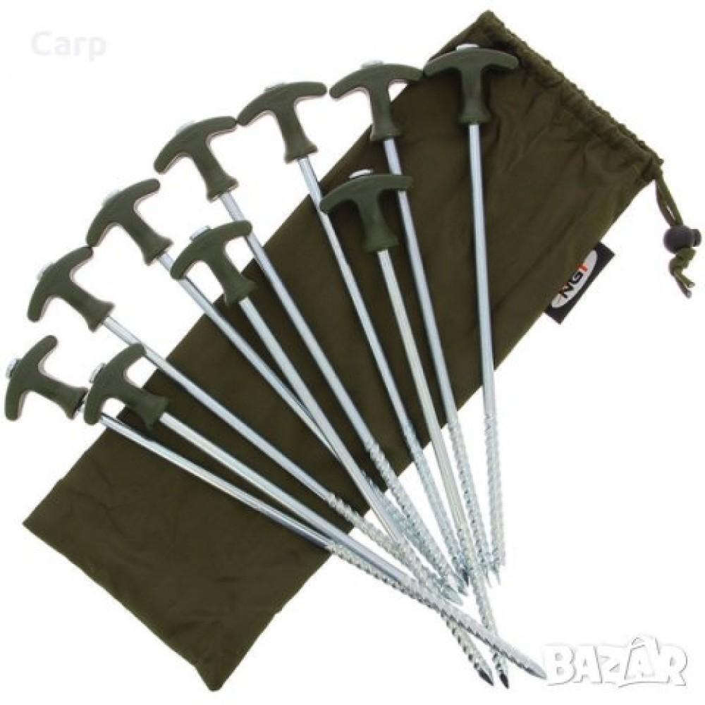 Колчета за палатка NGT Bivvy Pegs 10 броя x 30см